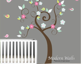 Children Wall Decal, Nursery Wall Decal, Baby Wall Decal, Wall Decals Nursery, Tree Wall Decals