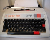 Rover 5000 Super Deluxe Portable Typewriter