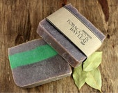 Tobacco and Bay Leaf Soap, Vegan Friendly Olive Oil Soap, made with Black Walnut Powder