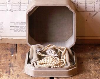 Vintage Gray Velvet-Lined Display Box - Great Jewelry Presentation!