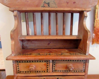 Pacific Northwest Indian Haida or Tlingit Tribal Chest Of Drawers