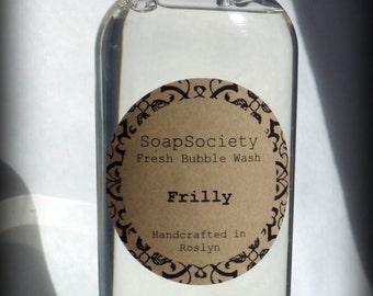Fresh Bubble Wash - Frilly - Jasmine Body Wash & Bubble Bath - Moisture Rich Shower Gel - BIG 8oz size