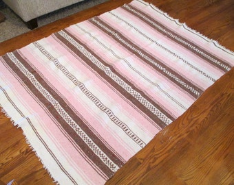 Vintage Reversible Lightweight Striped Rug
