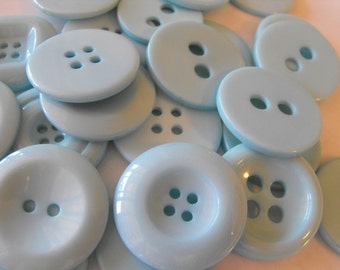 25 Baby Blue Large Buttons Assorted Round Crafting Sewing Buttons