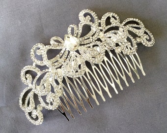 Bridal Headpiece Tiara Headband Rhinestone Hair Comb Accessory Wedding Jewelry Crystal Flower Side Tiara CM082LX