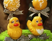 Mom's Killer Cake Pops New Design Waddle It Be? Ducky Baby Duck Cake Pops Perfect For Baby Shower, Gender Reveal, Easter Basket & More!