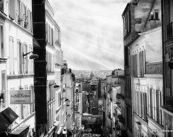Le Petit Parisien in Paris -  Fine Art Print Photography Black and White or Color  Photography, la photographie de Paris