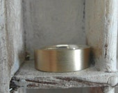 14 K Yellow gold and Sterling Silver-Unisex wedding band- matte finish-promise ring