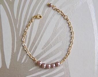Taupe Pearl Bracelet