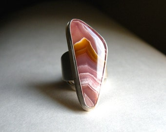 Sterling and Coyamito Agate Ring - Dreaming