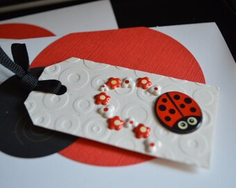 Ladybugs - set of 2 cards - customize sayings