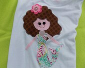 Little mermaid   Our Big hair Mermaid T Shirt for Children by Bubblebabys