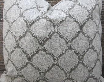 Designer Pillow Cover - Lumbar, 16 x 16, 18 x 18, 20 x 20, 22 x 22, 24 x 24 - Echo Kashmira Mineral 11