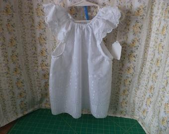 Eyelet sundress, Easter, Spring, Summer, Toddler Sizes 1T to 4T,