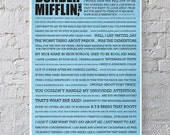 11x17 The Office Quote Poster