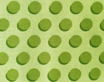Cotton Fabric - Polka Dots by Holy Holderman - Green - 5 yards