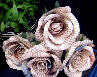 Vintage paper rose - Made to Order