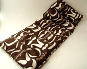 Heat Pad or Cold Pad Therapy Rice Bag - Brown Moustache