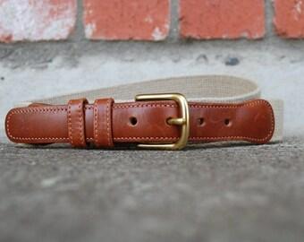 VTG Belt Coach Size 34 Womens Medium Large Designer Rustic Brown Leather Cream Belt Brass Buckle Boho Preppy Designer High Fashion Classy
