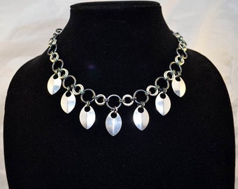 Iridescent Aluminum Scale Chainmaille Necklace