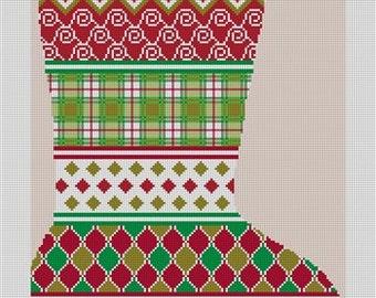 Avesta Personalized Christmas Stocking Needlepoint Canvas