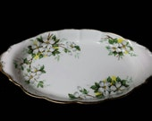 "Royal Albert ""White Dogwood"" Cream and Sugar Tray"