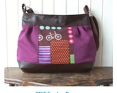 The Zinnia Zippered Panel Bag - PDF Sewing Pattern