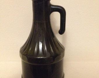 Vintage Brown Glass Cruet Bottle