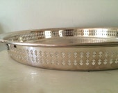 Silver  Tray -  Large 15 inch Gallery Butler Cocktail