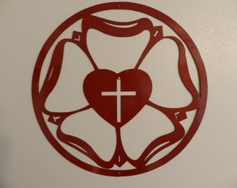 Luther's Rose  - Metal Wall Art