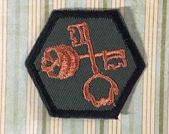 STEAMPUNK Merit Badge - Skeleton Key  Steampunk Scouts