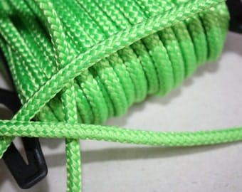 5 mm Braided Cord Nylon = 1 Spool = 22 Yards = 20 Meter Elegant Rope - Light Green