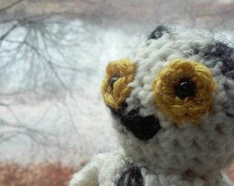 Snowy Owl amigurumi plush