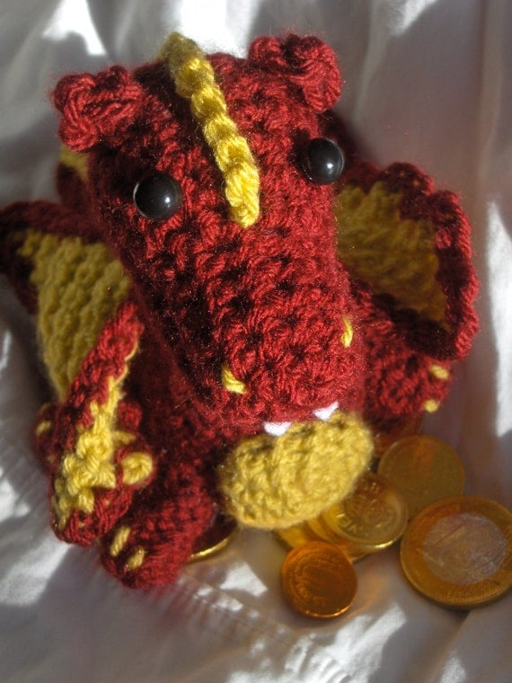 Plush Amigurumi Fire Dragon