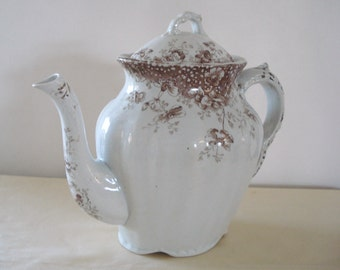 E.M. And Co. Summer Time Pattern England Tea Pot.