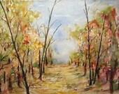 Landscape painting, watercolor art, archival print, forest painting, forest landscape, country walk art, nature art, watercolor woods.