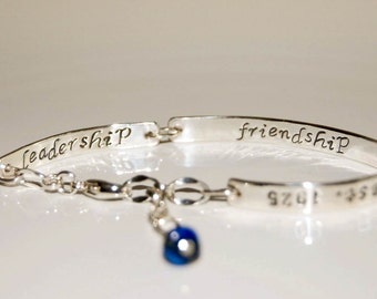 Three Name inside message personalized mom, grandmother bracelet, double sided engraving, family name bracelet, sterling silver bar bracelet