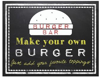 Burger Bar Sign | Digital