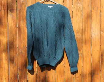 Blue Sweater Women's Deep Blue Green Small