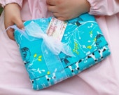 A Turquoise Bird & Dalmation Masterpiece Quilt Snuggling Blanket