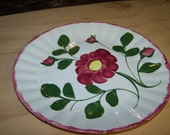 Hand Painted Blue Ridge Floral Plate