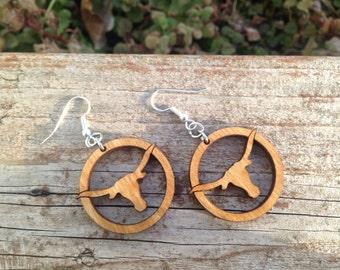 Texas Longhorn Earrings