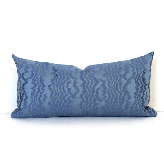 Lumbar Pillow Cover Blue Pillow Cover Oblong by couchdwellers