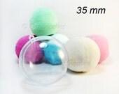 Mini Bath Bomb Mold, Bath Fizzies Mold, Bath Bomb Supplies, 1.37 inches / 35mm