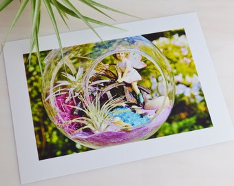 Photo Card of the Terrarium You Purchase ~ to include with your gift item ~ 4 X 6 Photo of your Terrarium or Fairy Garden ~ Add to your gift
