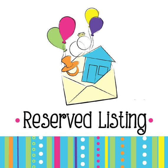 Reserved Listing for ChristinaH