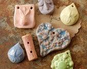 SUPER SALE / Ceramic Pendant Set (12-29-176)