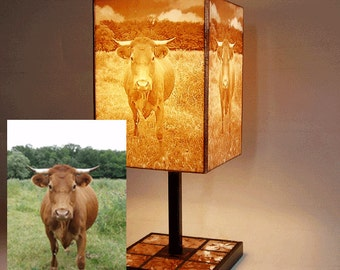 Custom table lamp with your photos, drawings, logos, etc