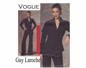 Guy Laroche Paris Original Vogue 1143 Jacket and Pants OOP UNCUT Sewing Pattern Sizes 4 6 8 10 Bust 29 1/2-32 1/2