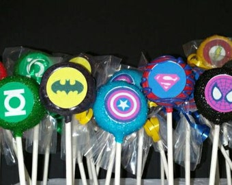 12 super hero cake pops perfect super hero party favors